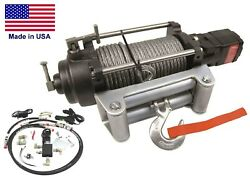 Hydraulic Winch For 97 To 98 Ford Truck - 12000 Lb Cap - Waterproof - Reversible