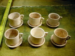 6 X Excavated Vintage Tea Cup With Plate Dollhouse Age 1890 German 14829
