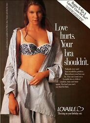1994 Magazine Brassiere Ad For Lovable Bras Pretty Young Model 022020