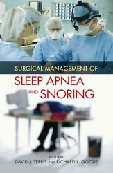 Surgical Management Of Sleep Apnea And Snoring English Hardcover Book Free Shi