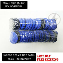 100 Pcs Small Size 1- 3/4 Round Radial Repair Tire Patches With High Quality
