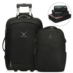 Hynes Eagle 2 In 1 Travel Backpack 63l Luggage Rolling Wheeled Bags Packing Cube
