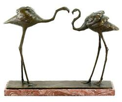Two Flamingos 1912 - Signed Bronze Figurine By Rembrandt Bugatti - Numbered