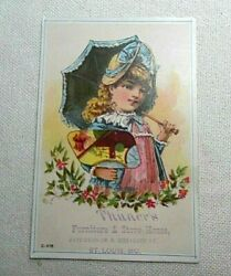 Antique Victorian Trade Card Thunerand039s Furniture And Stove House St. Louis Mo. 1