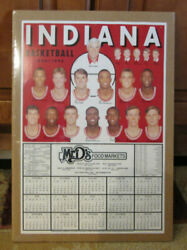 Rare 1994-95 Indiana Hoosiers Basketball Schedule Bobby Knight Shrink Wrapped