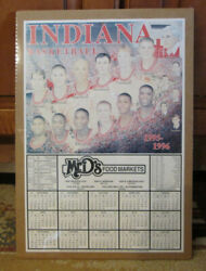 Rare 1995-96 Indiana Hoosiers Basketball Schedule Bobby Knight Shrink Wrapped