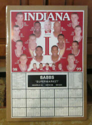 Rare 1998-99 Indiana Hoosiers Basketball Schedule Bobby Knight Shrink Wrapped