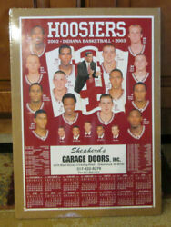 Rare 2002-03 Indiana Hoosiers Basketball Schedule Mike Davis Shrink Wrapped