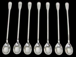 And Co Gramercy 7 Piece Sterling Silver 7 1/2 Iced Tea Spoons