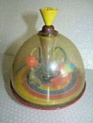 Spinning Top Seal Car Ring Hoops Moving Parts Vintage West Germany Toy Neocurio