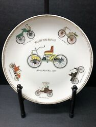 Vintage First Automobiles Cars Ford Porcelain Plate Willow Run Airport
