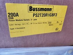 Cooper Bussmann Ps2t20r1gbf3 Power Module Elevator 200amp 208v Disconnect New