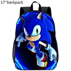 The Hedgehog Sonic Kids School Backpack 3 Size Boys Girls And Toddler Bags Gifts $17.09