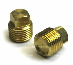 2 Pack Solid Brass Boat Hull Spare Garboard Drain Plug Sea Ray Bayliner 1/2