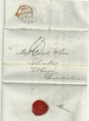 1838 Red Handstruck Missent To London On Town Hall Brighton To Tetbury Letter
