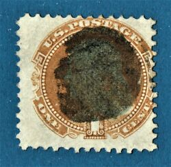 [sto142] 1869 Scott112 With Fancy Man's Head ..extremely Rare Cancellation