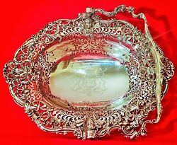 THE BREADALBANE BASKET taymouth castle scotland vtg london sterling silver bowl