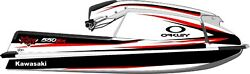 Jet Ski Graphic Kit For Kawasaki Sx550 White Id Designs Llc