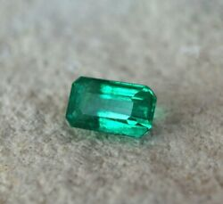 Rare And Top Quality Top Shade 2.54 Carat Zambian Emerald 10mm X 6mm