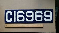 License Plate, Connecticut, 1913, Repeating 69s C 16969 1 69 69, Restored