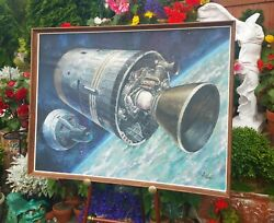 1965 BORMAN LOVELL gemini astronaut aerojet rocketdyne apollo vtg nasa space art