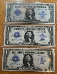 Lot Of Three 3 Us 1 Silver Certificates Fr 237