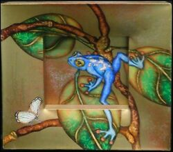 Luis Sottil Faith Blue Frog Hand Signed Hr1100 Naturalismo On Canvas