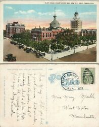 ELK'S HOME COURT HOUSE & NEW CITY HALL TAMPA FL ANTIQUE 1920 POSTCARD