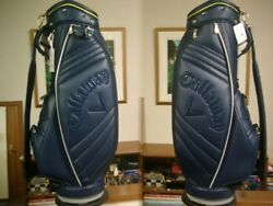 Callaway Ladies Traditional Design Synthetic Leather Navy Green Golf Bag