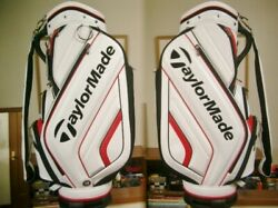 Tailor Made High Grade Molded Design Leather White Red Black Golf Bag