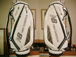 Nb Balance Sporty Design Synthetic Leather White Black Silver Golf Bag With