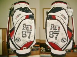 Adabat87 Sporty Design Synthetic Leather White Navy Red Golf Bag