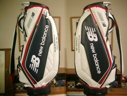Nb Balance Sporty Design Handle With Synthetic Leather White Navy Red Golf Bag