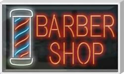 Outdoor Barber Shop With Pole Neon Sign | Jantec | 37 X 22 | Hair Cut Shave