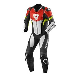 Revand039it Hyperspeed Mens 1-pc Leather Race Suit Neon Red/yellow