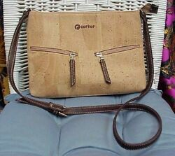 CORKOR designer natural cork handbagcross bodyshoulder bag; Model CK158NV