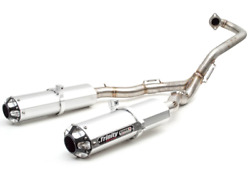 Trinity Racing Brushed Stage 5 Dual Full System Exhaust Pipe Yamaha Raptor 700