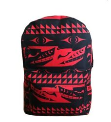 New Nwot Salish Style Backpack Red Black Native American Design Strength In Pack