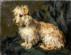 19th Century English School Portrait Of A West Highland Terrier Dog Cecil HUNT