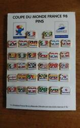 Football World Cup France Tournament Official Pin Badge 1998 Vintage Rare