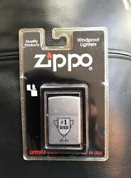 Zippo Lighter - 1 Dad - Fatherandrsquos Day Sealed In Package