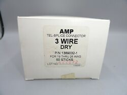 Amp Tel-splice Connectors 3 Wire Dry 1389032-1 Gauge 19-26 Awg Lot Of 750