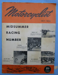 1952 Motorcyclist Motorcycle Magazine/book Racing Issue Isle Of Man Tt Laconia
