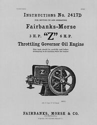 Fairbanks Morse 3 Hp And 6 Hp Z Instructions 2417d