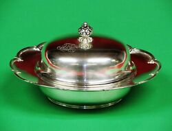 And Co. Sterling Silver Antique Covered Cheese Or Butter Dish.