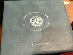 United Nations Association Of The U.s. Flip Open Booklet Of First Day Covers