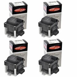 Set Of 4 Delphi Ignition Coil Gn10280 For Seat Volkswagen Cabrio Cabriolet 90-09