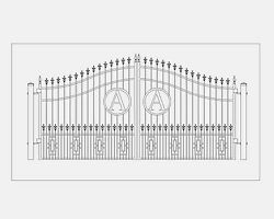 Wrought Iron Style Driveway Entry Gate 12' Ft Home Fence Garden Yard Security