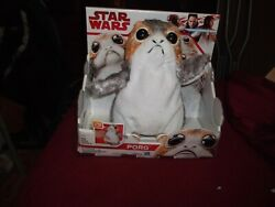 Star Wars The Last Jedi Porg Electronic Plush Talking Action Figue Toy Doll New
