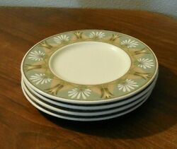 Mikasa Pompeii Cac83 Bread And Butter Plates X 4 Discontinued 1996